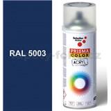 Sprej modrý lesklý 400ml, odstín RAL 5003 barva safírově modrá lesklá