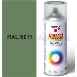 Sprej zelený lesklý 400ml, odstín RAL 6011 barva rezedově zelená lesklá