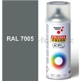 Sprej myší šedý lesklý 400ml, odstín RAL 7005 barva myší šedá lesklá