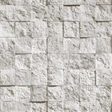 Vinylové tapety Bluff mozaika kamenná šedá