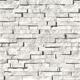 Vinylové tapety na zeď Virtual Reality kamenná stěna šedá