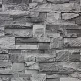 Vinylové tapety kamenný obklad šedý