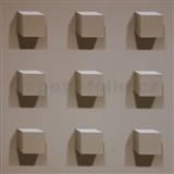 Vliesové tapety Kinetic 3D kostky hnědé
