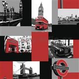 Papírové tapety London