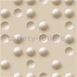 Vliesové tapety na zeď Just Like It 3D kuličky světle hnědé