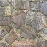 Vliesové tapety na zeď IMPOL Wood and Stone 2 obkladový kámen rula přírodní