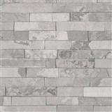 Vliesové tapety Wood and Stone 2 obkladový kámen štípaná břidlice světle šedá - POSLEDNÍ KUSY