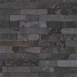 Vliesové tapety IMPOL Wood and Stone 2 obkladový kámen štípaná břidlice šedo-černá