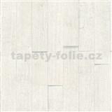 Vliesové tapety IMPOL Wood and Stone 2 3D dřevěný obklad bílý