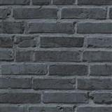 Vliesové tapety IMPOL Wood and Stone 2 cihly černo-šedé