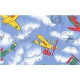 Samolepící tapety dětské - letadla 67,5 cm x 15 m