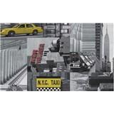 Samolepící tapety City taxi - 67,5 cm x 15 m