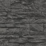 Vliesové tapety na zeď Wood´n Stone kámen černý