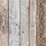 Vliesové tapety na zeď Wood´n Stone dřevěné desky modro-hnědé