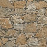 Vliesové tapety na zeď Wood´n Stone kámen štípaný hnědý