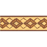 Samolepící bordury kosočtverce hnědé 5 m x 6,9 cm