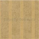 Vliesové tapety na zeď La Veneziana - pruhy zlatohnědé s metalickým efektem - SLEVA