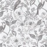 Vliesové tapety na zeď IMPOL floral květy s ptáky