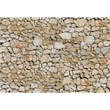 Vliesové fototapety kamenná zeď rozměr 312 cm x 219 cm