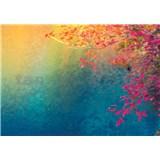 Vliesové fototapety barevné listí , slunce, nebe rozměr 368 cm x 254 cm