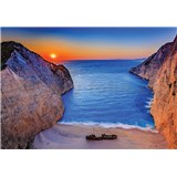 Vliesové fototapety západ slunce na Zakynthosu rozměr 368 cm x 254 cm