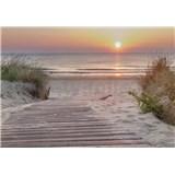 Vliesové fototapety východ slunce u moře rozměr 368 cm x 254 cm