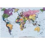 Fototapety mapa světa World Map rozměr 270 cm x 188 cm