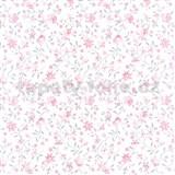 Samolepící tapety květy růžové - 90 cm x 15 m