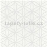 Vliesové tapety na zeď Graphics Alive - geometrické květy bílé - SLEVA