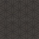 Vliesové tapety na zeď Graphics Alive - geometrické květy čokoládově hnědé - SLEVA