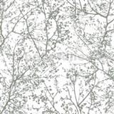 Vliesové tapety na zeď Graphics Alive - větve stromů stříbrné - SLEVA