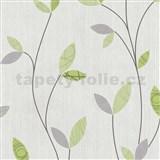 Vliesové tapety na zeď Happy Time - lístky - zelené