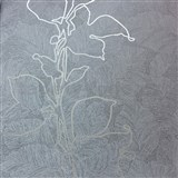 Tapety na zeď La Veneziana 3 listy stříbrné na hnědém podkladu