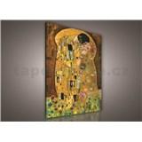 Obraz na plátně Gustav Klimt Polibek 75 x 100 cm
