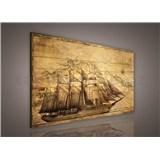 Obraz na plátně plachetnice 75 x 100 cm