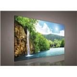 Obraz na plátně vodopád 75 x 100 cm