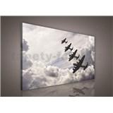 Obraz na plátně letadla v oblacích 75 x 100 cm