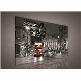 Obraz na plátně Double Decker v Londýně 75 x 100 cm