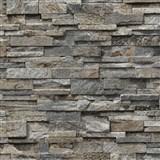 Vliesové tapety na zeď Origin - kámen pískovec hnědo-šedý