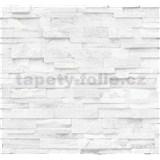 Vliesové tapety na zeď Origin - kámen pískovec bílo-šedý AKCE