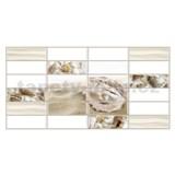 Obkladové 3D PVC panely rozměr 955 x 480 mm bílý obklad s mušlí a perlou