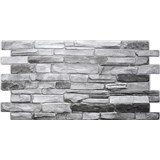 Obkladové 3D PVC panely rozměr 980 x 498 mm břidlice šedá