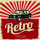 Retro cedule Retro Car 30 x 30 cm