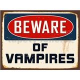 Retro cedule Beware of Vampires 40 x 30 cm