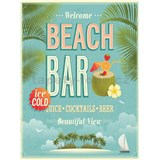 Retro cedule Beach Bar 40 x 30 cm