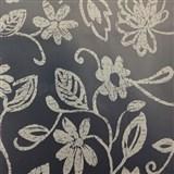 Ubrus metráž transparentní s bílými květy - matný povrch