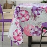 Ubrus metráž květy fialovo-růžové