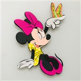 3D Pěnová dekorace na zeď Minnie s motýlkem