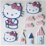 3D samolepky na zeď dětské Hello Kitty