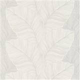 Vliesové tapety na zeď Bali listy šedo-hnědé